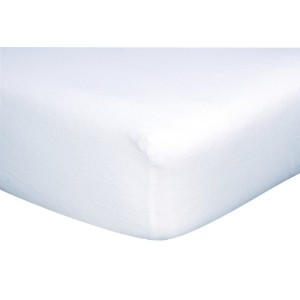 Trend Lab Knit Fitted Crib Sheet in White by Trend Lab