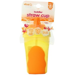 Vital Baby Toddler Straw Cup, Orange, 10 Ounce by Vital Baby