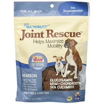 Ark Naturals Sea Mobility Joint Rescue Venison Jerky Delicious Dog Chew Treat 9z