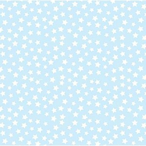 SheetWorld Fitted Pack N Play (Graco) Sheet - Stars Pastel Blue Woven - Made In USA by sheetworld