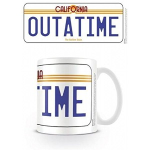 ■バックトゥザフューチャー [Outatime License Plate] 陶器製マグカップ■BACK TO THE FUTURE [Outatime License Plate] Ceramic...