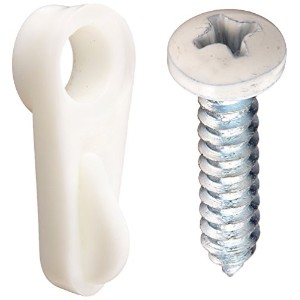 "Swivel Plastic Screen Clips with Screws-1/16"" WHT SCREEN CLIPS (並行輸入品)"