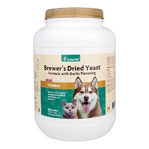 NaturVet BREWERS DRIED YEAST With Garlic Omega 3 6 Dogs Cats 4 Pounds
