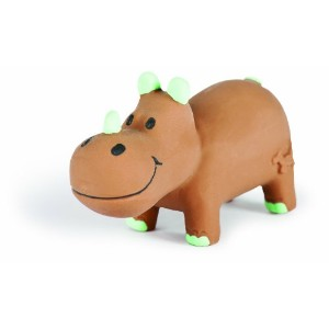 Charming Pet Lil Roamers Pet Squeak Toy, Small, Rhino by Charming