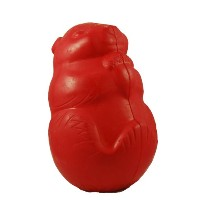 """Jolly Pets Critter Squirrel Interactive Treat Dispensing Dog Chew Toy Red 3.25"""""""