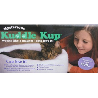 Mysterious Kuddle Kup Cat Bed, White by K. T. Manufacturing