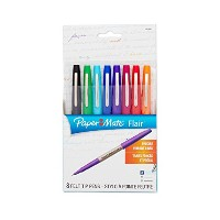 Flair Porous Point Stick Liquid Pen, Assorted Ink, Ultra Fine, 8/St (並行輸入品)