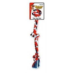 Mammoth Pet Products MM20014 Flossy Chew Tug, 3 Knot Large, 0.64 lbs.