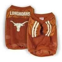Sporty K9 Collegiate Texas Longhorns Football Dog Jersey, X-Small - New Design by Sporty K9