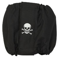 ClearQuest Cotton/Polyester Male K-9 Dog Wrap, Medium, Skull, Black by ClearQuest