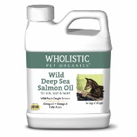 Wholistic Pet Organics Wild Deep Sea Salmon Oil for Dogs, 16 oz. by Wholistic Pet Organics