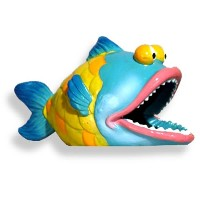 Exotic Environments Big Bass Fish Aquarium Ornament, 5-Inch by 2-1/2-Inch by 3-Inch by Blue Ribbon
