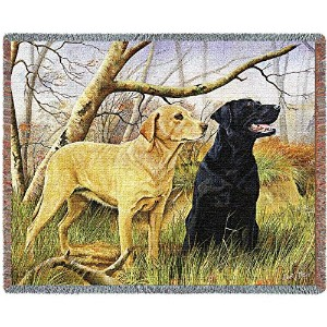 Pure Country 3297-T Yellow and Black Lab Pet Blanket, Various Blended Colorways, 53 by 70-Inch by...
