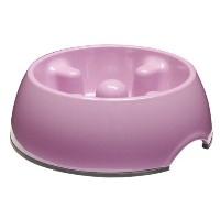 Dogit Go Slow Anti-Gulping Dog Bowl, Pink, Small by Dogit