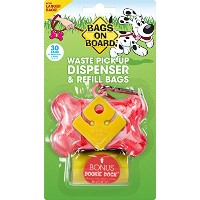 Bags on Board Waste Pick Up Dispenser&Refill Bags Pink (30bags) ペット用エチケット袋&ディスペンサー(ピンク)30袋付き