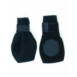 Fashion Pet Lookin Good Arctic Fleece Boots for Dogs, X-Large, Black by Fashion Pet