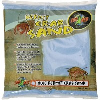 Zoo Med Hermit Crab Sand Blue All Natural Calcium Carbonate Substrate 2lbs