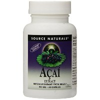 海外直送品 Source Naturals Acai Extract, 60 Vcaps 500 mg
