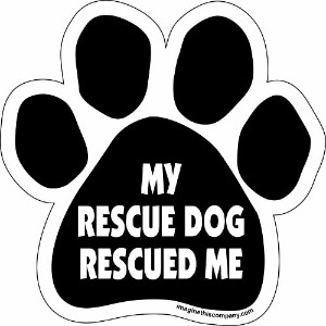 Imagine This Paw Car Magnet, My Rescue Rescued Me, 5-1/2-Inch by 5-1/2-Inch by Imagine This