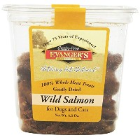 Evangers Dehydrated Wild Salmon Treat Whole Meat Freeze Dried for Dogs Cats 4.6z