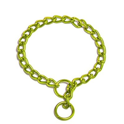 Platinum Pets 2mm Coated Chain Dog Collar 14-Inch, Corona Lime by Platinum Pets