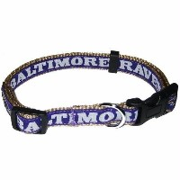 Pets First BRC-M Baltimore Ravens NFL Dog Collar - Medium