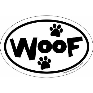 Imagine This 4-Inch by 6-Inch Car Magnet Oval, Woof Paws by Imagine This
