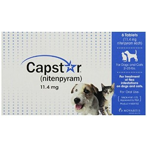 Capstar Flea Tablets for Dogs and Cats, 6 Count, 2-25 lbs, Blue by Capstar