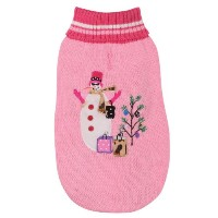 East Side Collection Acrylic Deck The Halls Dog Sweater, XX-Small, 8-Inch, Pink by East Side...