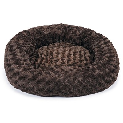 Slumber Pet Swirl Plush Donut Beds - Soft and Cozy Donut-Shaped Beds for Dogs and Cats - Medium, 24...