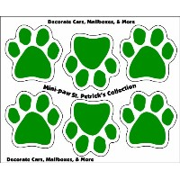 Imagine This 1-3/4-Inch by 1-3/4-Inch St. Petrick's Collection Car Magnet, 6 Mini Paws by Imagine...