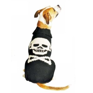 Chilly Dog Black Skull Dog Sweater, XX-Large by Chilly Dog