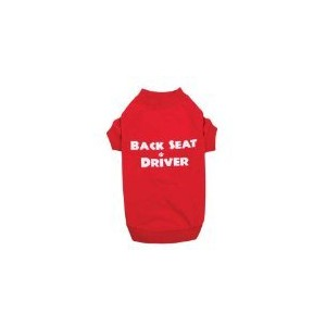 Casual Canine ZM3572 16 83 Back Seat Driver Tee for Dogs, Medium, Red by Casual Canine