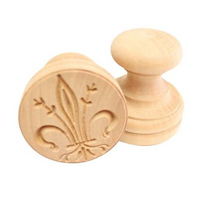 (Lily) - Paderno World Cuisine A4982278 Lily Corzetti Stamp, Brown