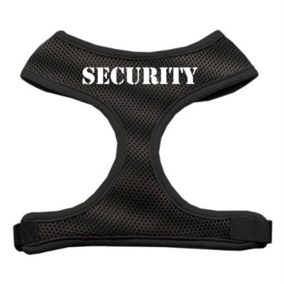 Mirage Pet Products 70-22 LGBK Security Design Soft Mesh Harnesses Black Large