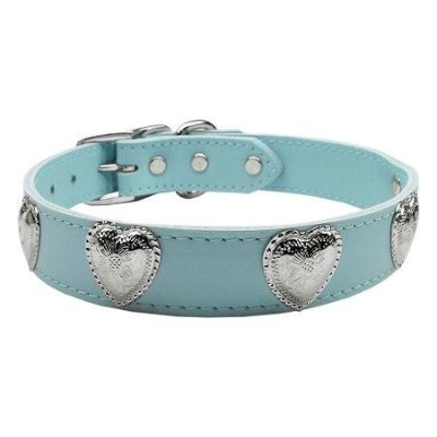 Mirage Pet Products 83-02 22BBL Western Heart Leather Baby Blue 22