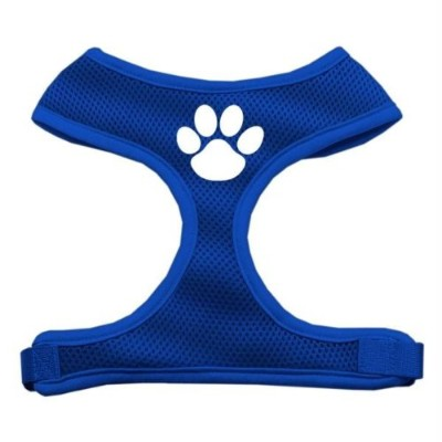 Mirage Pet Products 70-16 MDBL Paw Design Soft Mesh Harnesses Blue Medium
