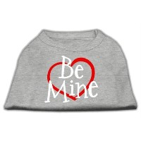 Mirage Pet Products 51-53 SMGY Be Mine Screen Print Shirt Grey Sm - 10