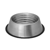 Indipets Stainless Steel Capacity Measurement Bowl, Large up to 64 -Ounce by Indipets