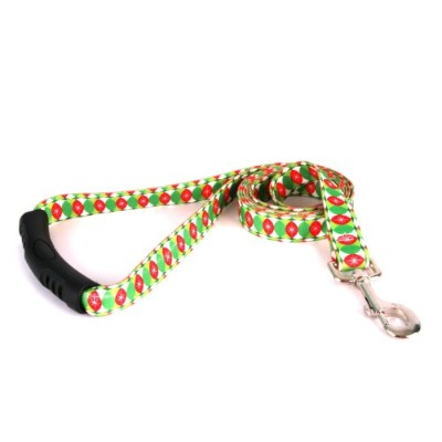 Yellow Dog Design EZ-Grip Lead, 3/4-Inch by 60-Inch, Christmas Cheer by Yellow Dog Design