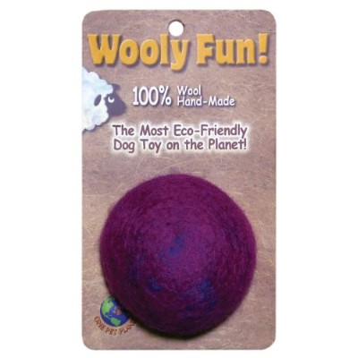 One Pet Planet 86005 2-Inch Wooly Fun Ball Dog Toy by One Pet Planet