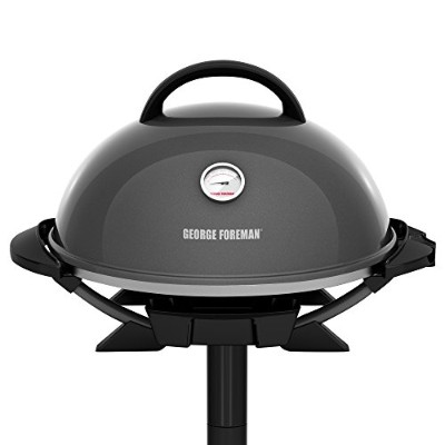 George Foreman ジョージフォアマン GFO3320GM Indoor/Outdoor Gun Metal Electric Grill, Silver グリル [並行輸入]