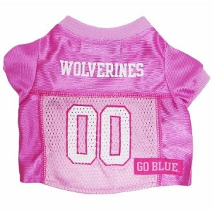 Mirage Pet Products 301-17 PJR-XS Michigan Wolverines Pink Jersey XS