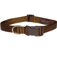 Sassy Dog Wear 10-14-Inch Brown Nylon Webbing Dog Collar, Small by Sassy Dog Wear