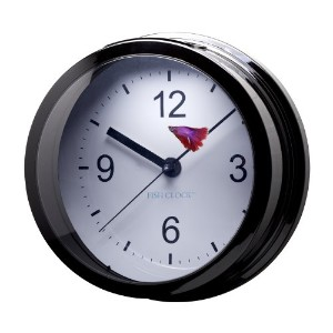 Aquavista Betta Fish Clock Aquarium, Pearl Black by AquaVista