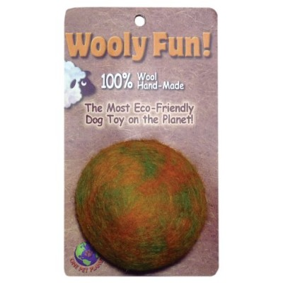 One Pet Planet 86002 2-Inch Wooly Fun Ball Dog Toy by One Pet Planet