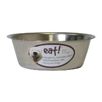 OurPets Basic Stainless Steel Dog Bowl, 5 Quart by Pet Zone