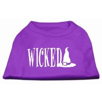 Mirage Pet Products 51-98 MDPR Wicked Screen Print Shirt Purple M - 12