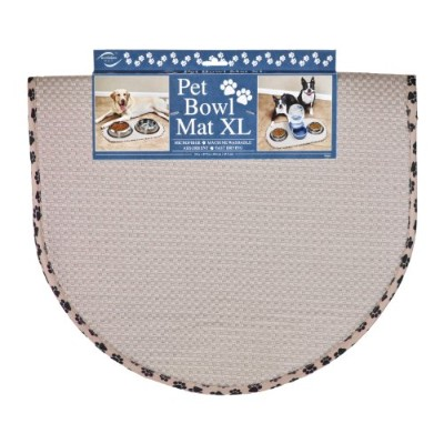 Envision Home 413000 Microfiber Pet Bowl/Food Mat, X-Large, Taupe by Envision Home