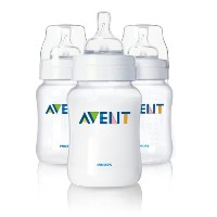 Philips AVENT SCF680/37 Classic Feeding Bottles (Newborn Flow - 125 ml - 3-Pack)
